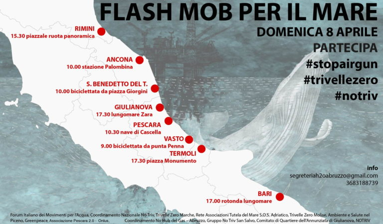 Flash-mob per dire no alle trivelle in Adriatico