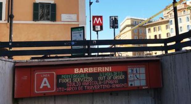 Slitta ancora la riapertura della fermata Barberini